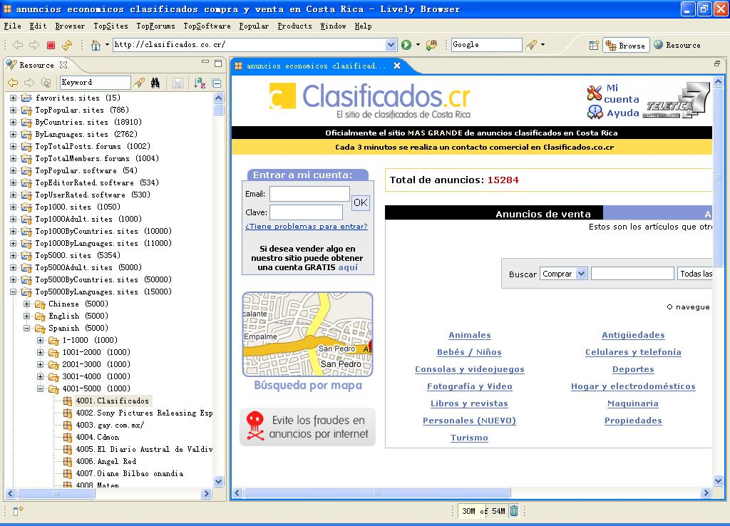 Click to view Lively Browser Basic 4.3.0 screenshot