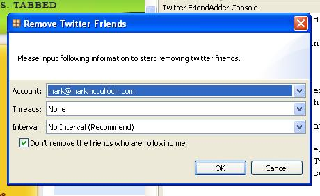 Twitter FriendAdder Screenshot